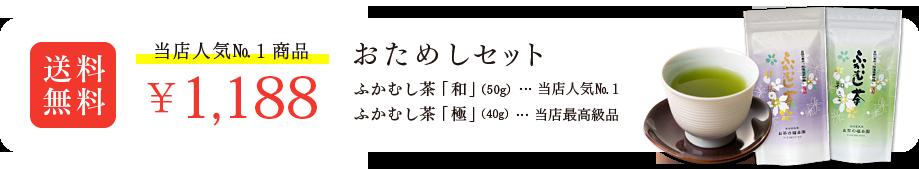 当店人気No.1商品 ふかむし茶セット 1,100円 送料無料!